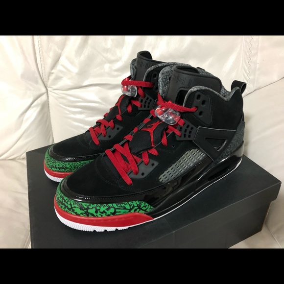 the latest b51a3 90511 Nike Air Jordan Spizike Black Red Green New